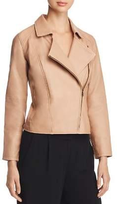 Eileen Fisher Leather Moto Jacket