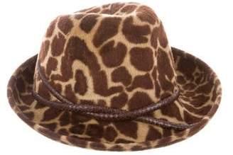 Philip Treacy Printed Wool Hat