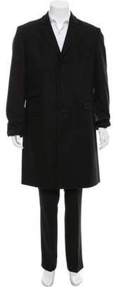 Burberry Wool Notch-Lapel Overcoat
