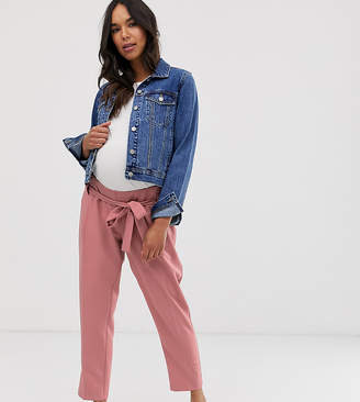 Asos (エイソス) - Asos Maternity ASOS DESIGN Maternity tailored tie waist tapered ankle grazer pants