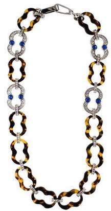 Prada Crystal & Faux Tortoise Necklace & Shoulder Strap