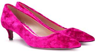 Prada Velvet kitten-heel pumps