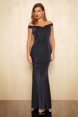 Lipsy Raylee Lurex Maxi Dress - 10 - Black