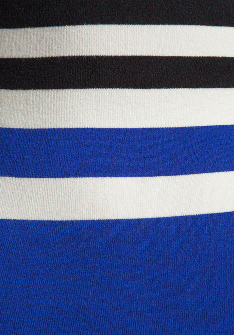 Torn By Ronny Kobo Cecilia Cruise Stripe Dress in White/Black/Blue