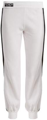 Fendi Contrast side-stripe cotton track pants