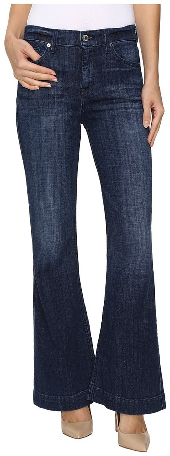 7 For All Mankind7 For All Mankind - Tailorless Ginger in Bordeaux Broken Twill Women's Jeans