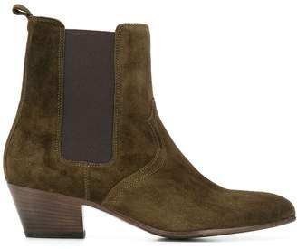 Closed pointed toe ankle boots
