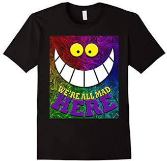 We're All Mad Here Quote Wonderland Trippy Wild Cat Tshirt