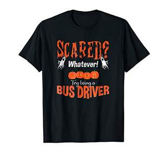 Bus Driver Halloween Tshirt SCARED Teacher School Shirt