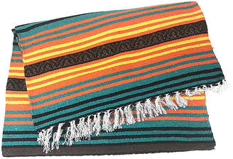 One Kings Lane Vintage Mexican Fringed Throw Blanket