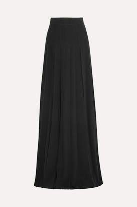 Prada Pleated Crepe Maxi Skirt - Black