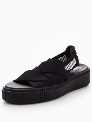 Puma Platform Sandals - Black