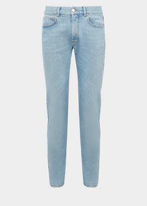 Versace Embroidered Pocket Jeans