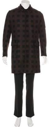 Kenzo Wool-Blend Check Coat