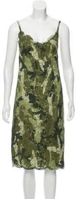 Valentino Guipure Lace Silk Dress green Guipure Lace Silk Dress