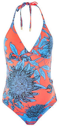 Topshop MATERNITY Sunflower Print One-Piece Swimsuit