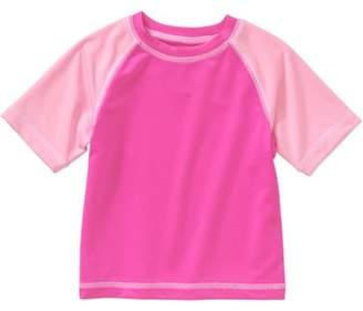 Op Newborn Baby Girls' Short Sleeve Swimwear Rash Guard T