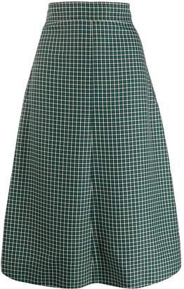 Cédric Charlier plaid print skirt
