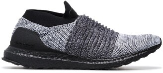 adidas black Ultra Boost laceless sneakers