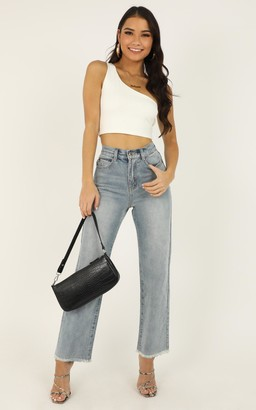 Showpo Priscilla jeans in light wash denim - 6 (XS) High Waisted Jeans