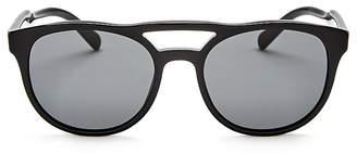 Prada Brow Bar Round Sunglasses, 53mm $300 thestylecure.com