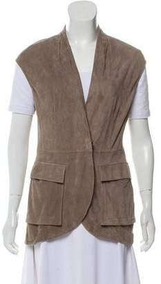 Brunello Cucinelli Suede Button Up Vest