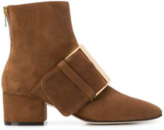 Sergio Rossi buckled ankle boots