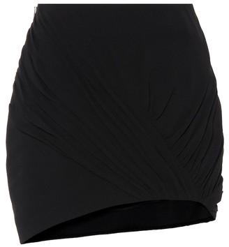 Saint Laurent Wool and silk asymmetric miniskirt