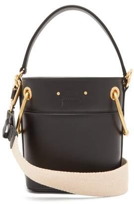 Chloé Roy Mini Leather Bucket Bag - Womens - Black