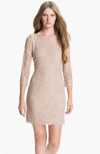 Diane von Furstenberg 'Zarita' Lace Sheath Dress