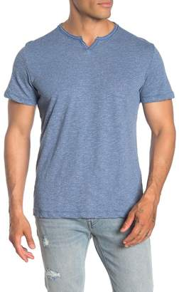 NICKEL & IRON Notch Short Sleeve Slub T-Shirt