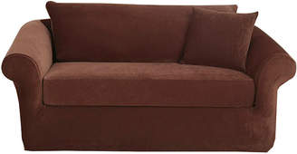 Sure Fit Stretch Piqu 3-pc. Loveseat Slipcover