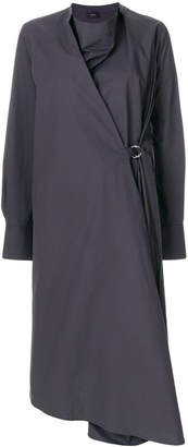 Joseph wrap front shirt dress