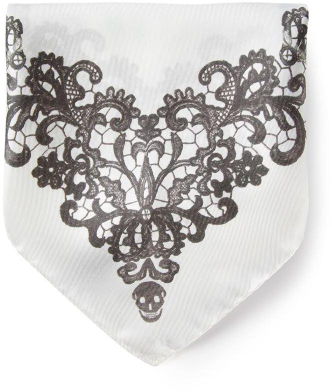 Alexander McQueen graphic print handkerchief