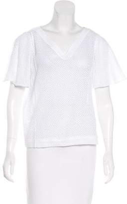 Maiyet Mesh Short Sleeve Top