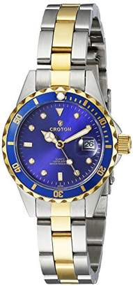 Croton Women's CA201103TTBL Analog Display Japanese Quartz Two Tone Watch