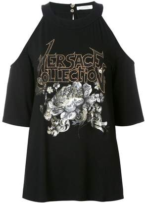 Versace embellished off-the-shoulder top