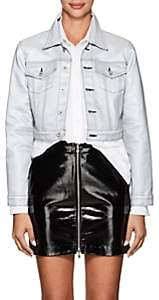 Jordache Women's Reflective Coated Denim Jacket - Silver