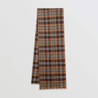 Burberry Vintage Check Lightweight Wool Silk Scarf