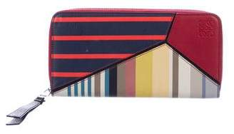 Loewe 2018 Striped Continental Wallet