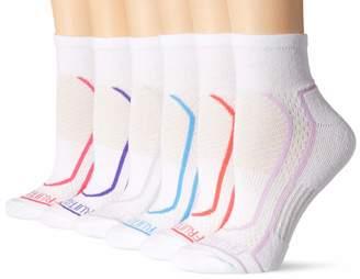 Fruit of the Loom Women's 6 Pack Ankle Socks