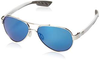 Costa del Mar Women's Loreto Polarized Iridium Aviator Sunglasses