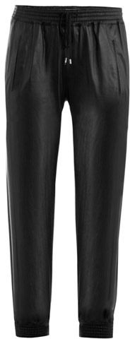 Vince Super-soft leather track trousers