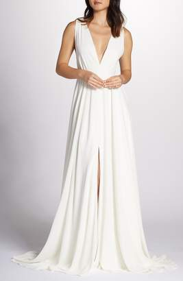 Joanna August Nico Plunging A-Line Gown
