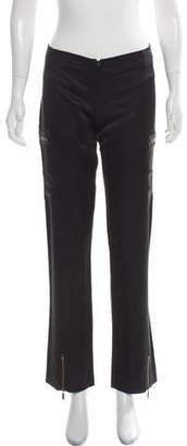 Patrizia Pepe Satin Straight-Leg Pants