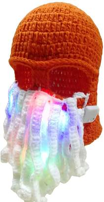 Luwint LED Flashing Octopus Hat - Cthulhu Knit Beanie Mask for Christmas Party Rave