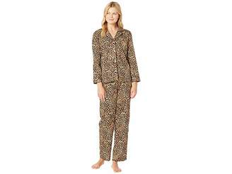Lauren Ralph Lauren Sateen Long Sleeve Classic Notch Collar Pajama Set