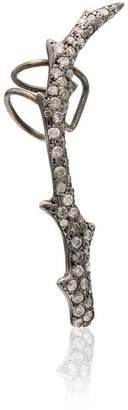Loree Rodkin 18K white gold Wreath diamond ear cuff
