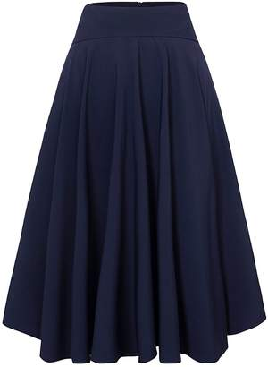 Omelas Women Short Midi Pleated Skirt Swing Flare Skater Dress High Waisted