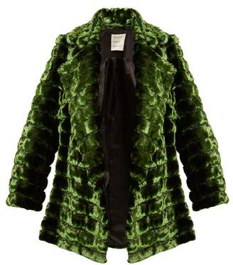 Maison Rabih Kayrouz Grizzly Quilted Faux Fur Coat - Womens - Dark Green